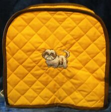Quilted Toaster Cover Yellow/Shih Tzu Made to Order Toaster Cover Only