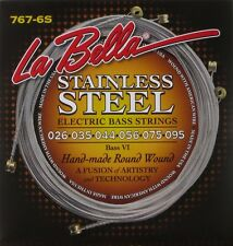 LA BELLA 767-6S STAINLESS STEEL ROUND WOUND STRINGS FOR FENDER BASS VI - 26-95