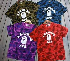 NWT Men's Japan Camo Bape mini Ape Icon By A bathing Ape Smart crewneck T shirt