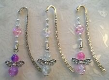 Guardian angels bookmark~glass beaded handmade angel~angel watching over me gift
