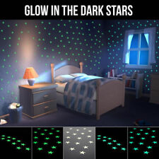 Glow in the Dark Adhesive Vinyl Stars Wall Decal Stickers 50 pieces