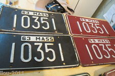 Set of (18) Matching Five Digit (10561) Massachusetts License Plates 1945-1973