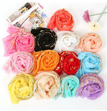 New Fashion Womens Lady Multi-color Chiffon Soft Scarves Long Wraps Shawl Scarf