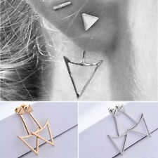 Fashion Women Lady Punk Style Simple Earrings Triangle Gothic Ear Stud New Style