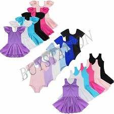 Girls Dance Gymnastics Ballet Dress Toddler Kid Leotard Tutu Skirt Party Costume