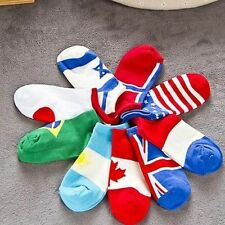 Men's National Flag Sports Hit Color Cotton Thin Socks Low Cut Ankle Boat Sock