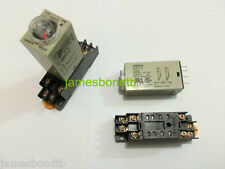 1/5 sets 12/24/110/220V H3Y-2 0-5/10/30/60s Delay Timer 8 Pin Relay+Socket Base