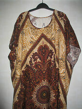 NEW LADIES DASHIKI BATIK MULTI-PRINT KAFTAN DRESS. PLUS SIZES 16-18-20-22-24