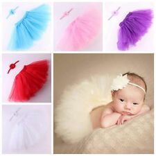 Chic Baby Girl Newborn Headband Tutu Skirt Matching Hairband Photography Prop
