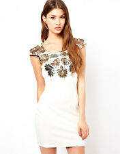 New LIPSY Floral Sequin BNWT £45 Evening Party Club Bodycon Bandage Mini Dress