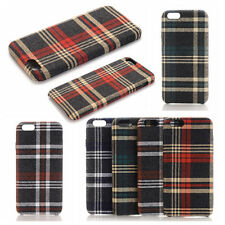 For Apple iPhone 6 6S Plus S7 Edge Fabric Cloth Soft Rubber Silicone Case Cover