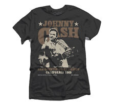 JOHNNY CASH SAN QUENTIN 1969 MENS T SHIRT ORIGINAL LICENSED JIM MARSHALL PHOTO