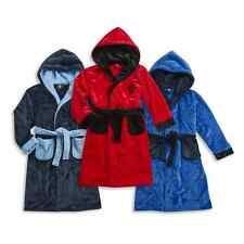 Boys Football Soft Fleece Hooded Dressing Gown Ages 7,8,9,10,11,12,13 NEW/TAGGED