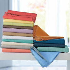 SRP Bedding 800- TC 4-PC Soft Sheet Set 100% Cotton Solid Queen Sofa All Color