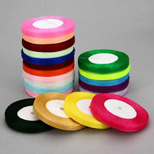 Full 10 MTR Roll Of Organza ribbon 10mm, 15mm, 20mm  various colours