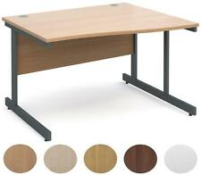 Contract 25 Right Hand Wave Desk   1200mm Wide  White,Walnut,Beech,Oak and Maple