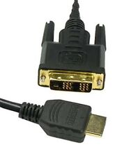 3-30Ft Gold 18+1 DVI-D Single Male to HDMI Male Cable 1080p High Definition