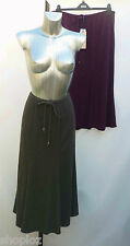 M&S Classic Sizes 12 16 Panelled Flared Pull On Skirt  Khaki Plum Bnwt Free Post