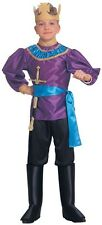 Boys Knight Costume Royalty King Renaissance Royal Gold Crown Childs Kids NEW