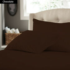 1000TC 100% EGYPTIAN COTTON CHOCOLATE SOLID AMERICAN BEDDING SHEETS COLLECTION A