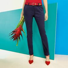 Womens Asquith & Fox Summer Cotton Twill Casual Chino Trousers Chinos