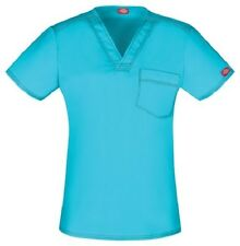 Dickies Scrub Short Sleeve Top DK801 ITQZ Icy Turquoise Free Shipping