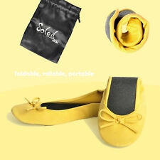 New Foldable / Rollable Yellow Ballet flats with bag. S,M,L, 5,6,7,8,9,10 US/AU