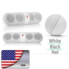 Pill Outdoor Portable Bluetooth FM Stereo Speaker AUX For Smartphone Handsfree