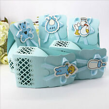 60pcs Boy Paper Candy Boxes For Birthday Party Chocolate Box Baby Shower Favors