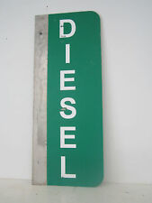 "DIESEL SERVICE STATION DOUBLE SIDED SIGN FLANGE MOUNT ALUMINUM 24"" (no flange)"