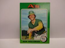 1975 Topps Baseball Ken Holtzman Card # 145 Oakland Athletics