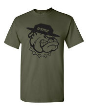 Marine Bull Dog Drill Sargent USMC  Bulldog Men's Tee Shirt 1386