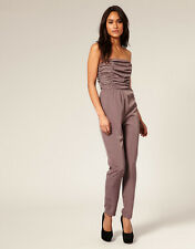 New ASOS BNWT £49 Mink Stud Embelished Pleated Bust Party Club Jumpsuit Dress