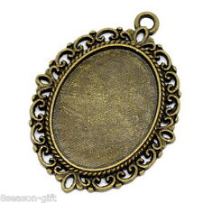 Gift Wholesale Bronze Tone Oval Frame Cameo Settings 39x29mm