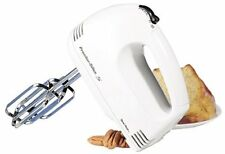 Kitchen Handheld Electric Mixer Chrome Beaters Blender 5 Speed Baking Egg Cake