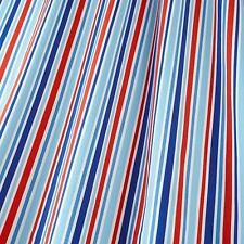 iLiv Candy Stripe Nautical Designer Curtain Upholstery 100% Cotton Fabric