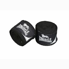 Lonsdale Stretch Mexican Boxing Training Hand Wraps Black/Wht MMA Bandage Inners