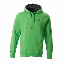 Under Armour Storm Cotton Hoody Mens Fluo Green Jumper Sweatshirt Sweater