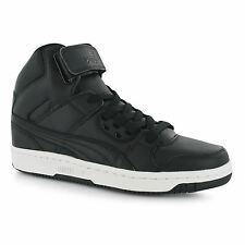 Puma Rebound Street High Top Trainers Womens Black/Black Fashion Sneakers Shoes