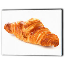 Large French Croissant Canvas Framed Panel Food Shop Breakfast - Wall Art Prints