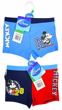 Boys Disney Mickey Mouse Swim Boxer Style Swimming Trunks 3 to 8 Years