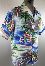 Vintage 1950's Atomic Print Rayon/Silk Rockabilly VLV Hawaiian Shirt  MED-XL
