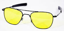 AO Original Pilot Black Bayonet Temple NonPolarized Yellow PC Sunglasses USAF