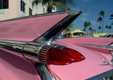 Art print POSTER Tail Fin of Vintage Pink Cadillac