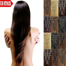 45% Off Sexy Lady Clip In Remy Human Hair Extensions Full Head US Seller 7PCS C4