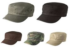 DISTRESSED MILITARY HAT CAP FIDEL CADET ARMY 100% DT605 COTTON TWILL UNISEX NEW