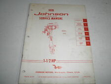 1970 johnson outboard motor factory service manual 1.5 hp
