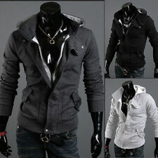 Men's Slim Fit Winter Warm Stylish Casual Slim Fit Zip Up Hooded Coat Jacket NEW