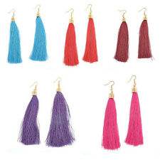 Vintage Long Tassel Fringe Boho Dangle Earrings Fashion Women Bohemian Earrings