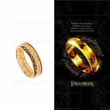 Lord of the Rings THE ONE RING OF POWER Golden Popular Ring in 4 sizes Cosplay